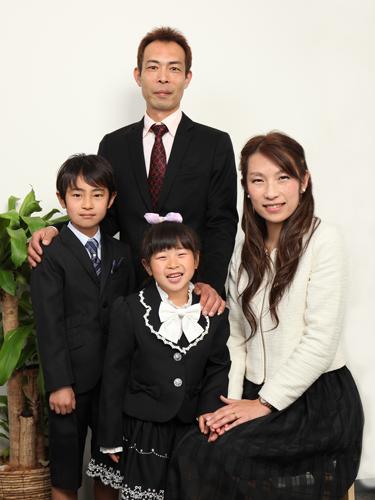 家族写真カジュアル